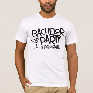 T-shirt en cours d'enterrement de vie de jeune