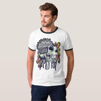 T-shirt en cristal de mandala de crâne