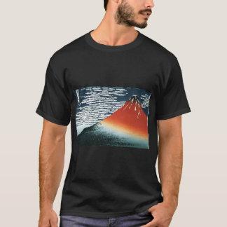 T-shirt en de forme de png du hokusai fuji7 de png du