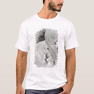 T-shirt 'En essayant de passer le coin que j'ai glissé et