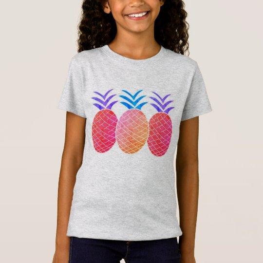 T-shirt en jersey fin pour filles Ananas