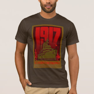 T-SHIRT EN OCTOBRE 1917 ROUGE