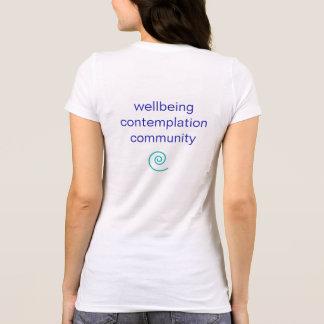 T-shirt en spirale de base de yoga du chemin des