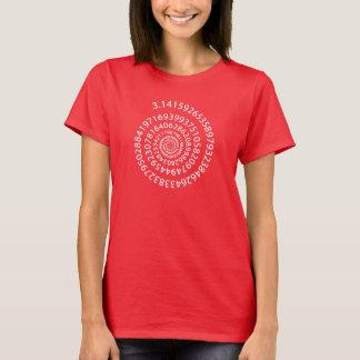 T-shirt en spirale du jour pi de pi