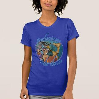 T-shirt Enchantement de golden retriever sous la mer