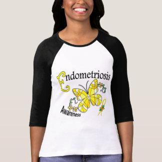 T-shirt Endométriose du papillon 2 en verre souillé