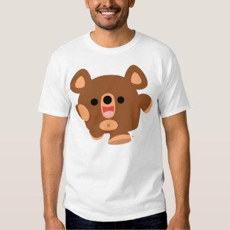 T-shirt énergique d'enfants d'ours de bande
