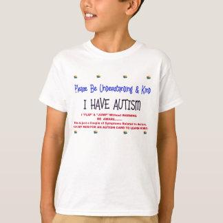 T-shirt Enfant d'avertissement avec l'autisme