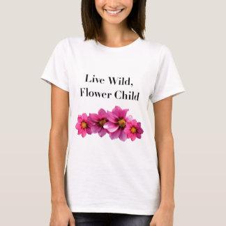 T-shirt Enfant de fleur sauvage vivant