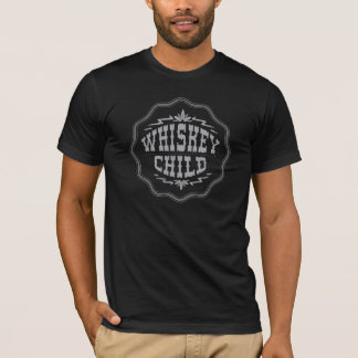 T-shirt ENFANT de WHISKEY - logo noir de récolte du
