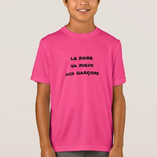 t-shirt enfant garçon rose