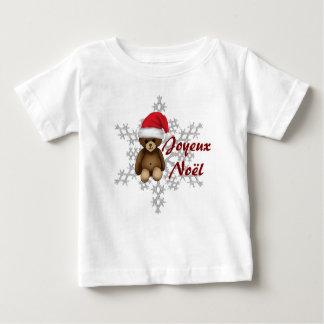 """T-Shirt enfant """"Joyeux Noël"""", nounours et flocon"""
