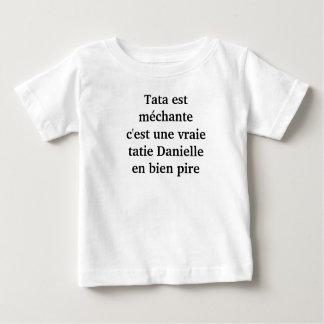 "t-shirt enfant ""tata est méchante"""