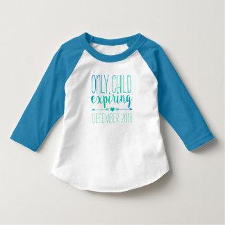 T-shirt Enfant unique expirant - turquoise Ombre