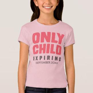 T-shirt ENFANT UNIQUE expirant [VOTRE DATE ICI]