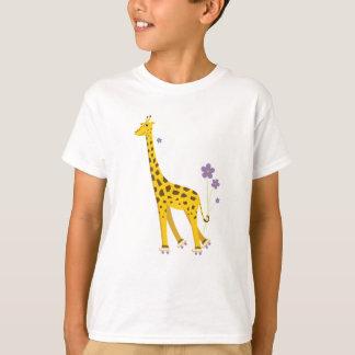 T-shirt Enfants de patinage mignons de girafe