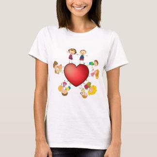 T-shirt Enfants et coeur
