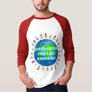 T-shirt Enfants globaux, codeurs de Jefferson Shelby