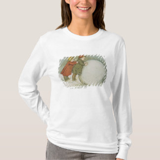 T-shirt Enfants roulant des boules de neige