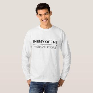T-shirt Ennemi de la chemise américaine de long-douille de