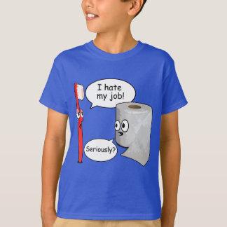 T-shirt Énonciation drôle - je déteste ma brosse à dents