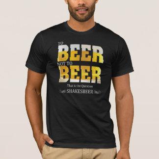 T-shirt Énonciations drôles | à la bière ou PAS à la bière