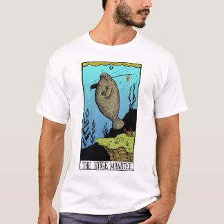 T-shirt énorme de lumière du lamantin des hommes