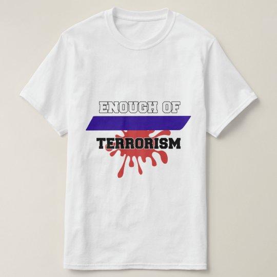 T-shirt enough of terorrism