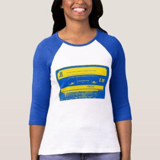 T-shirt Enregistreur à cassettes bleu et jaune