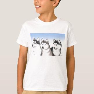 T-shirt enroué de chiens de traîneau de Malamute