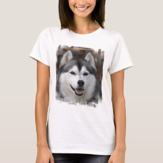 T-shirt enroué de dames de chien