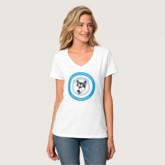 T-shirt enroué de logo de délivrance d'asile de Ni