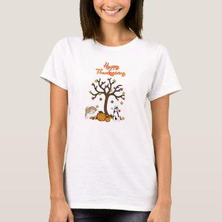 T-shirt enroué heureux de thanksgiving