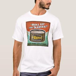 T-shirt Enroulez votre pièce en t d'huile de coude des