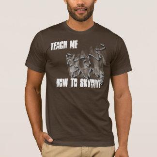 T-shirt enseignez-moi comment à la chemise de piqué de