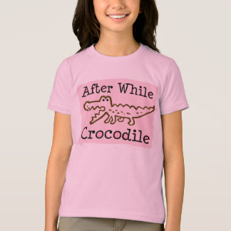 T-shirt Ensuite tandis que crocodile