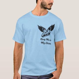 T-shirt Enterrez-moi dans mes patins