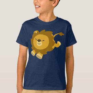 T-shirt enthousiaste mignon d'enfants de lion de