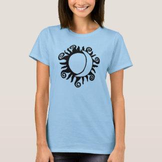 T-shirt Entre Sun et lune - pièce en t Girly