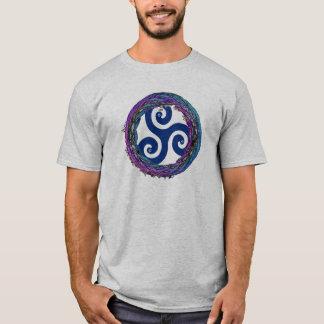 T-shirt entrelacé celtique de conception de
