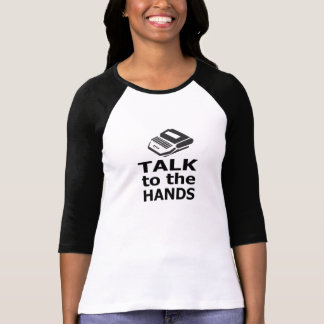 T-shirt Entretien au sténographe judiciaire de mains