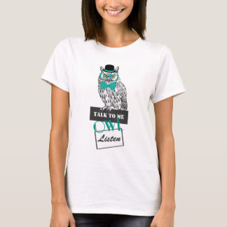 """T-shirt entretien vintage de croquis drôle de hibou le """"à"""