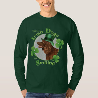 T-shirt Épagneul d'eau irlandaise du jour de St Patrick