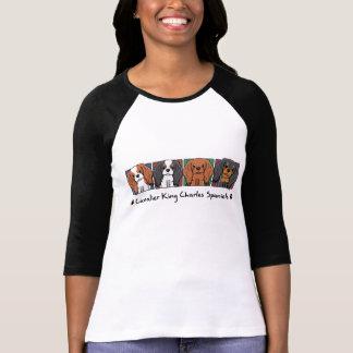 T-shirt Épagneuls cavaliers du Roi Charles de bande