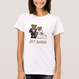 T-shirt Épousant l'ours, juste dames mariées T