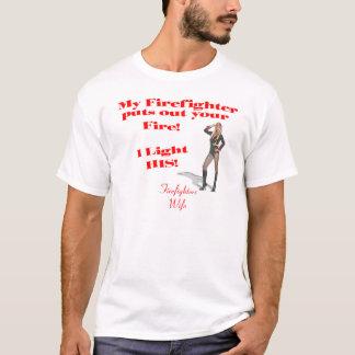 T-shirt Épouse 2 de sapeurs-pompiers