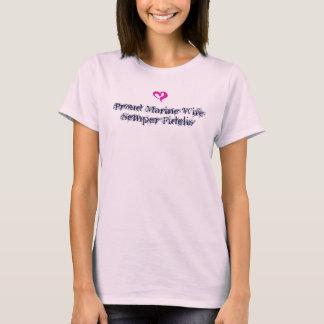 T-shirt Épouse fière