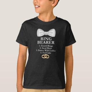 T-shirt Épouser mignon de garçons d'anneaux de garde de