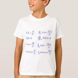 T-shirt équation de physique de maxwell