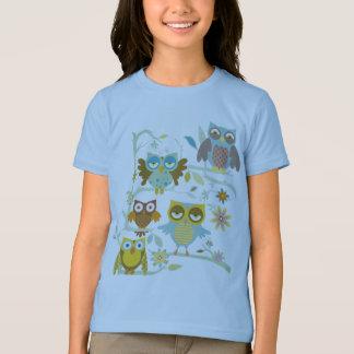 T-shirt Équipage mignon de hiboux